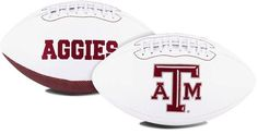Texas A&M Aggies Full Size Embroidered Signature Series Football Z157-1509957334