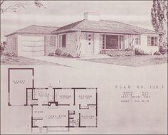 Mid Century Modern House Plans | 1950 Modern Ranch Style House ...
