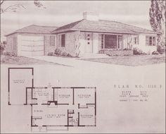 Mid Century Modern House Plans | Mid Century Modern Ranch - 1948 Homes by Home Building Plan Service ...