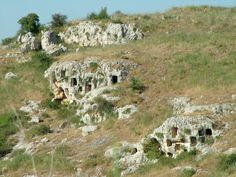 rock cut tombs at Pantalica, Sicily. emphasizes phenomenon of islands as redoubts for locally-rooted practices. (late 2nd--early 1st m. BC)