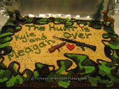 Cool Camouflage Stag and Doe Cake