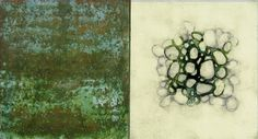 Luisa Sartori  Lines & Weather #14 2007 Oil, copper leaf, graphite, ink on wood 12 x 7
