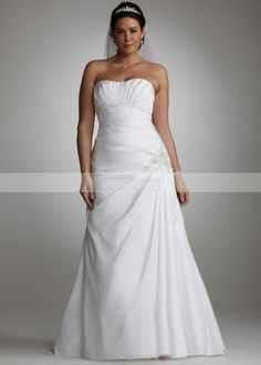 This was my wedding dress. LOVED it so so much. It was beautiful and so comfortable! Davids Bridal. Item# 9WG3032 #wedding