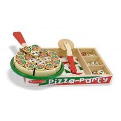 6 kousků, které je možno krájet na barevném tácku.Pizza také vydává zvuky krájení když se řeže!