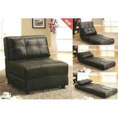 Kinda lovin this chair that converts to a bed.