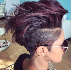 Edgy cut via @pekelariley Read the article here - http://blackhairinformation.com/hairstyle-gallery/edgy-cut-via-pekelariley/