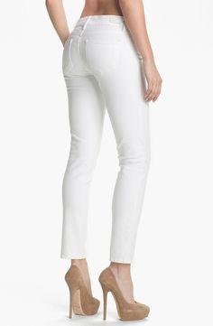 Paige Denim 'Skyline' Ankle Peg Skinny Jeans (Optic White)