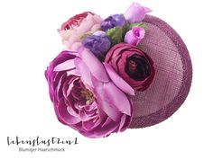 Headpieces & Fascinators - Blumen Fascinator *SHIRIN* Haarblüte pink Hütchen - ein Designerstück von Lebenslust2in1 bei DaWanda