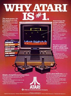 1982 AD Atari is Early Video Computer System game gaming Vintage Print Advert Vintage Video Games, Classic Video Games, Retro Video Games, Retro Games, Electronics Projects, Radios, Space Games, Adventure Games, Vintage Ads