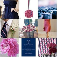 navy and pink wedding colors