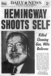Why Did Ernest Hemingway Commit Suicide? Newspaper Front Pages, Vintage Newspaper, Newspaper Article, History Facts, World History, Newspaper Headlines, Drame, News Stories, Historical Photos