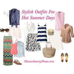 """MissusSmartyPants.com-Outfits For Hot Summer Days"" by mspsmartypants on Polyvore"