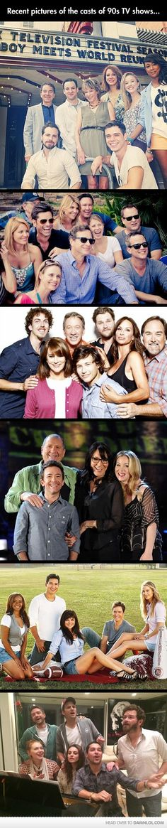 Recent pictures of the casts of 90's TV shows
