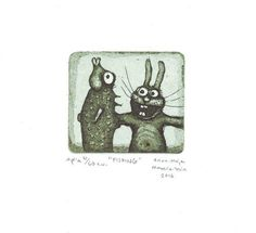 Fishing by annamaijam on Etsy Intaglio Printmaking, Fishing, Anna, Unique Jewelry, Handmade Gifts, Artist, Vintage, Etsy, Kid Craft Gifts