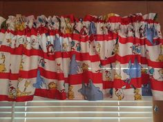 """Dr. Seuss Window Valance ~ Celebrate Seuss ~ Childrens Room ~ 41"""" Wide by CheriesSewCrafty on Etsy"""