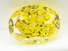 0.48ct FANCY.VIVID.YELLOW,SI2,オーバル イエローダイヤモンドルース