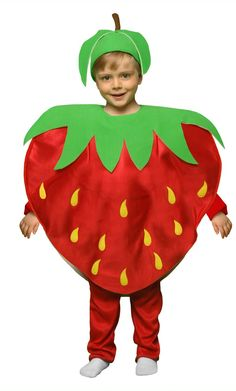 FRAISE E2 Animal Costumes For Kids, Fancy Dress Costumes Kids, Fancy Dress For Kids, Toddler Costumes, Cute Costumes, Baby Halloween Costumes, Strawberry Costume, Costume Fruit, Costume Makeup