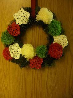 pompom wreath revisited by caseyplusthree, via Flickr