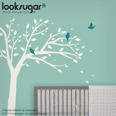 Birds Tree Wall Decal from looksugar * Perfect wall sticker for your home, office, or baby nursery.  Transform your room overnight with this easy to use vinyl decals. This tree  decal available in a variety of colors to fit your unique style. It's time to get excited about your living space!  Thank you so much for looking at this nature inspired wall art!  *All our vinyl is made from commercial grade material (German-Engineered, Made in USA), and are manufactured with environmentally…