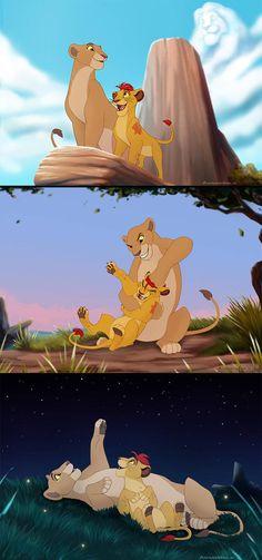 Comm: kopa, kiara then kion Early Morning, Long Day, Starry Night by animon Disney Pixar, Disney Fan Art, Disney And Dreamworks, Disney Animation, Disney Love, Kiara Lion King, Lion King 3, Lion King Fan Art, Le Roi Lion Disney