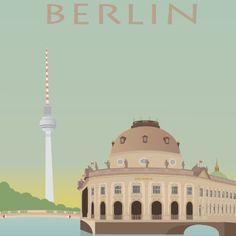 Poster. Grafisk Design. Illustration. Berlin. Bodemuseum