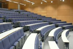 Auditorium | Lecture hall | Lecture theater | With Tables | Design Concept Theatre Design, Hall Design, Church Design, Hall Interior, Office Interior Design, Space Interiors, Office Interiors, Design Hall Entrada, Lecture Theatre