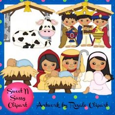 Nativity Clipart + Digital Samps 2