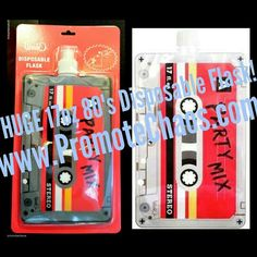 HUGE 17oz 80's MixTape Disposable Flask! COUPON: Take an Additional 5% Off when you place an order of just $5 or more though this link: http://ebay.us/LvYHE5 ★ Free US Shipping! Over 600 Beautiful, Badass & Bucking Funny items in our ebay store at 25% Off! #mixtape #80s #novelties #funny #cassette #tape #flask #freeshipping #unique #red #gifts