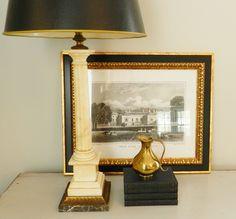 vintage alabaster lamp - Google Search