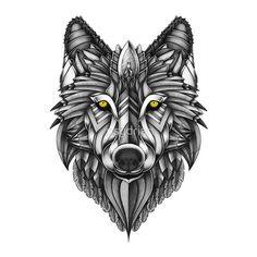 Wolf design, wolf tattoo design, tattoo designs, tattoo project, wolf t Wolf Tattoos Men, Dope Tattoos, Trendy Tattoos, Animal Tattoos, Body Art Tattoos, New Tattoos, Tattoos For Guys, Tribal Wolf Tattoos, Paisley Tattoos