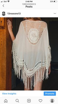 It doesn't get any better than this cotton tassel kimono. Pair this boho beauty with shorts and a bralette or use it as a swimsuit coverup. Available in Black and Ivory. Bohemian Kimono, Floral Kimono, Floral Lace, Beach Kimono, Women's Kimono Cardigan, Kimono Jacket, Tunic, Fringe Kimono, Colourful Outfits
