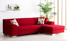 Toronto Red Sofa from Comfy Co