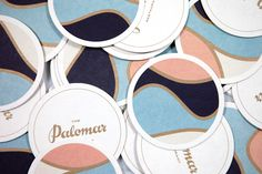 Logotype and coasters designed by Here for Soho restaurant The Palomar