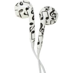 MiCase Music Note Print Earbuds | Hot Topic