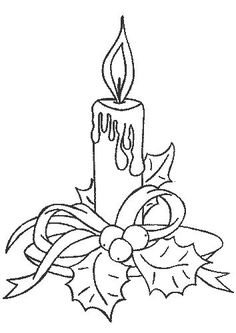 Christmas candle coloring page Make your world more colorful with free printable coloring pages from italks. Our free coloring pages for adults and kids. Christmas Colors, Christmas Art, Christmas Ornaments, Christmas Pictures, Christmas Ideas, Christmas Drawing, Christmas Embroidery, Christmas Candles, Coloring Book Pages