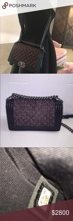 d7ba7ad94e11 Auth CHANEL Fantasy Tweed Boy ( 2100 if pick up) Stunning 100% Authentic  CHANEL