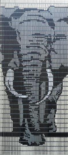 Vliegengordijn Olifant ontworpen door Deco Creations. Bezoek onze website Deco Creations.nl