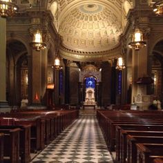 Our church! Cathedral Basilica of Saints Peter and Paul. Philly PA