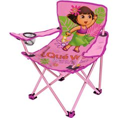 little explorers can cozy up to read in this sweetly designed chair that has convenient cupholder - Walmart Fold Up Chairs