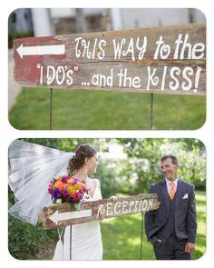 Wooden Wedding Signs #wedding #woodensign #DIY #summerwedding