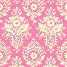 Heather Bailey, Up PARASOL COLLECTION, 1/2 Yard of Fabric, LuLu in Bright Pink, from Free Sprit/ Westminster Fabrics