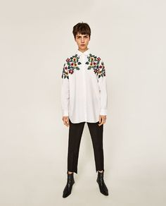 Image 2 of OVERSIZED FLORAL SHIRT from Zara