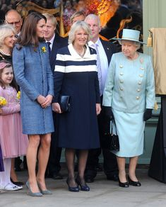 Queen Elizabeth, Catherine Middleton Duchess of Cambridge and Camilla Duchess of Cornwall visit Fortnum & Mason, a luxury department store on March 1, 2012 in London, UK., The Royals were given a tour of its famous food hall, and the Queen unveiled a plaque to commemorate the regeneration of the local Piccadilly area.The trip was unique in that it was the first time that the three generations of royal women, The Queen, the Duchess of Cambridge and Duchess of Cornwall carried out official…
