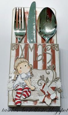 individual silverware holders - make a set for every holiday!!!  You could personalize them as well.