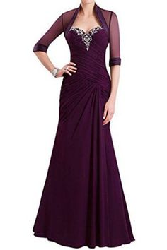 Lovelybride Elegant Mother of the Bride Dress with Jacket Long Evening Gowns