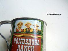 Vintage Ponderosa Ranch Tin Cup