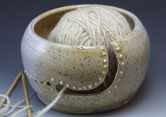 Bridges Pottery Yarn Bowl for Knitting