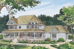 Farmhouse 4 Beds 2.5 Baths 2174 Sq/Ft Plan #72-137 Front Elevation - Houseplans.com