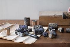 Tampons anciens trouvés dans le grenier de la maison familiale en Charente. C'est pour nous une nouvelle source d'inspiration pour notre marque Maison Mathûvû.