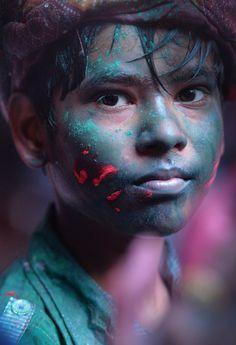 Holi boy, India